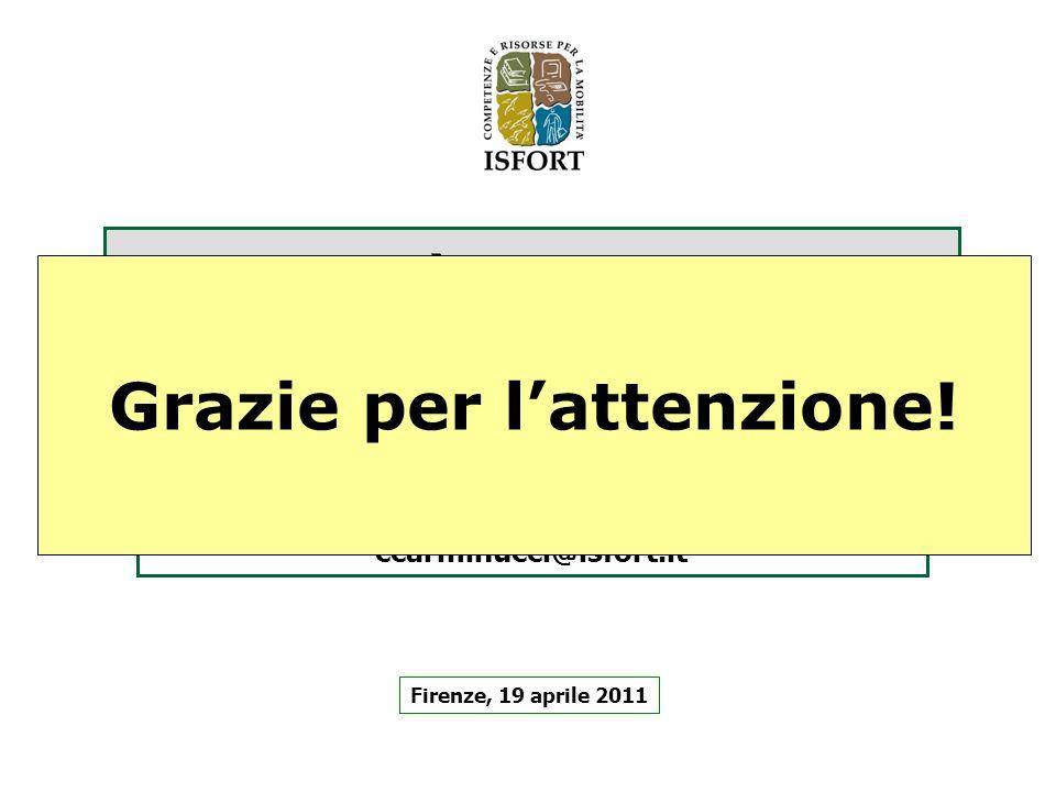 La mobilità urbana in Italia Profili, tendenze e confronti con lEuropa Firenze, 19 aprile 2011 Carlo Carminucci, Isfort ccarminucci@isfort.it Grazie p