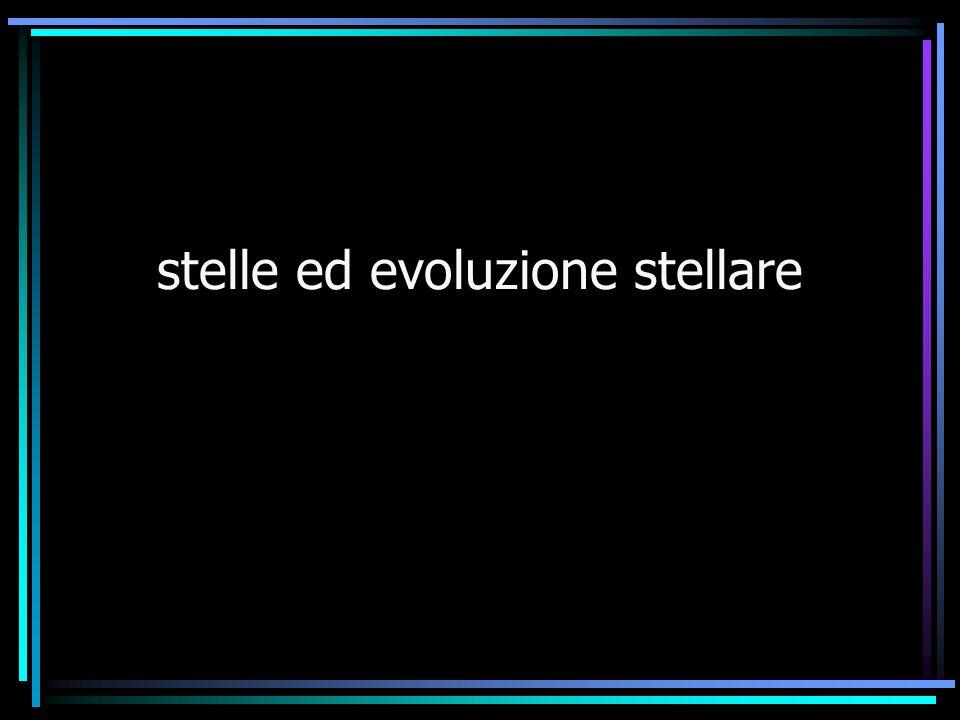 stelle ed evoluzione stellare