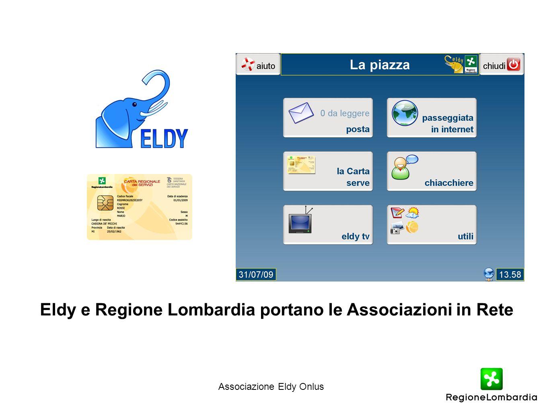 LASSOCIAZIONE ELDY L associazione no profit Eldy promuove azioni concrete per l inclusione sociale di anziani e disabili.