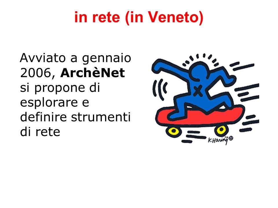 in rete (in Veneto) Avviato a gennaio 2006, ArchèNet si propone di esplorare e definire strumenti di rete