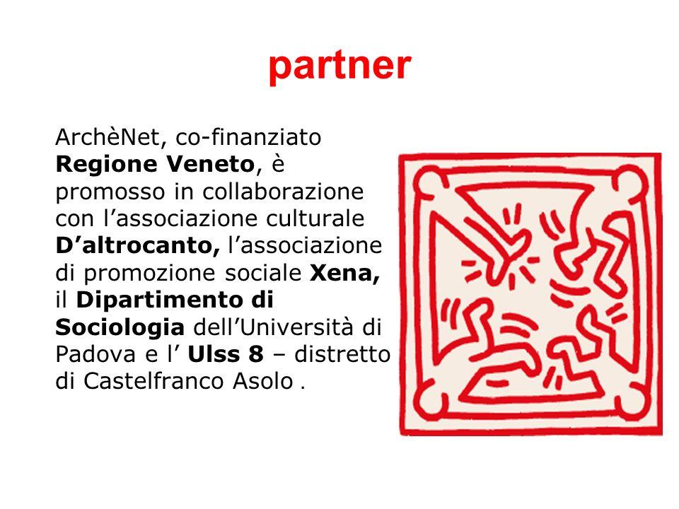 partner ArchèNet, co-finanziato Regione Veneto, è promosso in collaborazione con lassociazione culturale Daltrocanto, lassociazione di promozione sociale Xena, il Dipartimento di Sociologia dellUniversità di Padova e l Ulss 8 – distretto di Castelfranco Asolo.