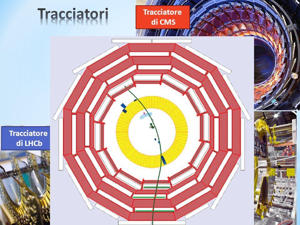 Tracciatore di LHCb Tracciatore di CMS Tracciatore di TOTEM