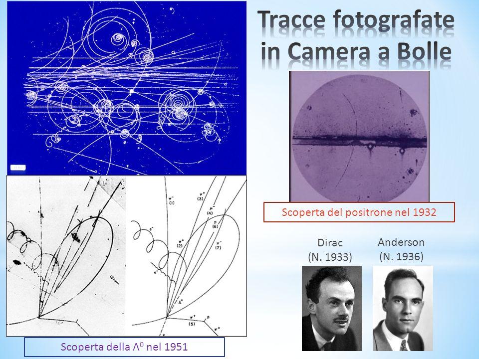 Scoperta della Λ 0 nel 1951 Scoperta del positrone nel 1932 Dirac (N. 1933) Anderson (N. 1936)