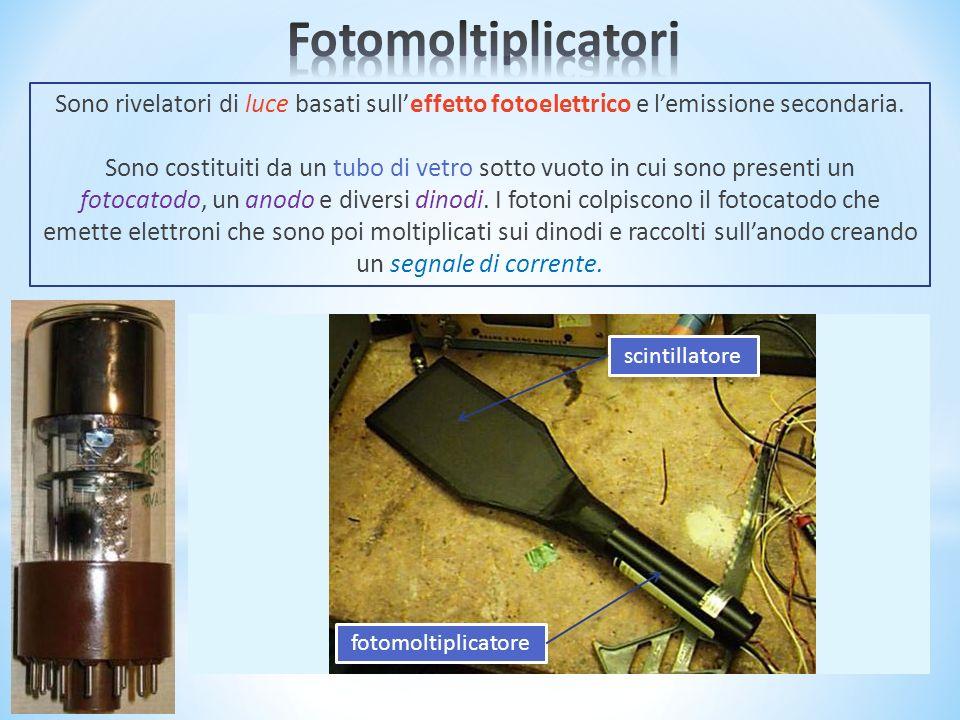 Sono rivelatori di luce basati sulleffetto fotoelettrico e lemissione secondaria.
