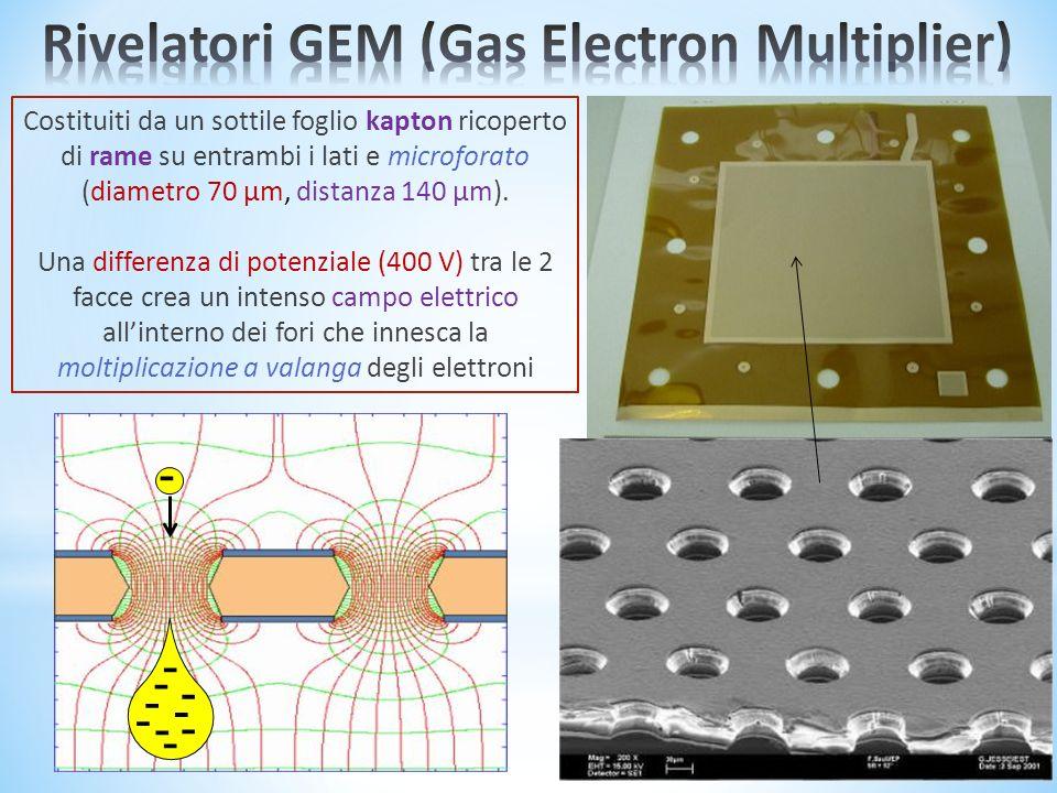 Costituiti da un sottile foglio kapton ricoperto di rame su entrambi i lati e microforato (diametro 70 µm, distanza 140 µm).