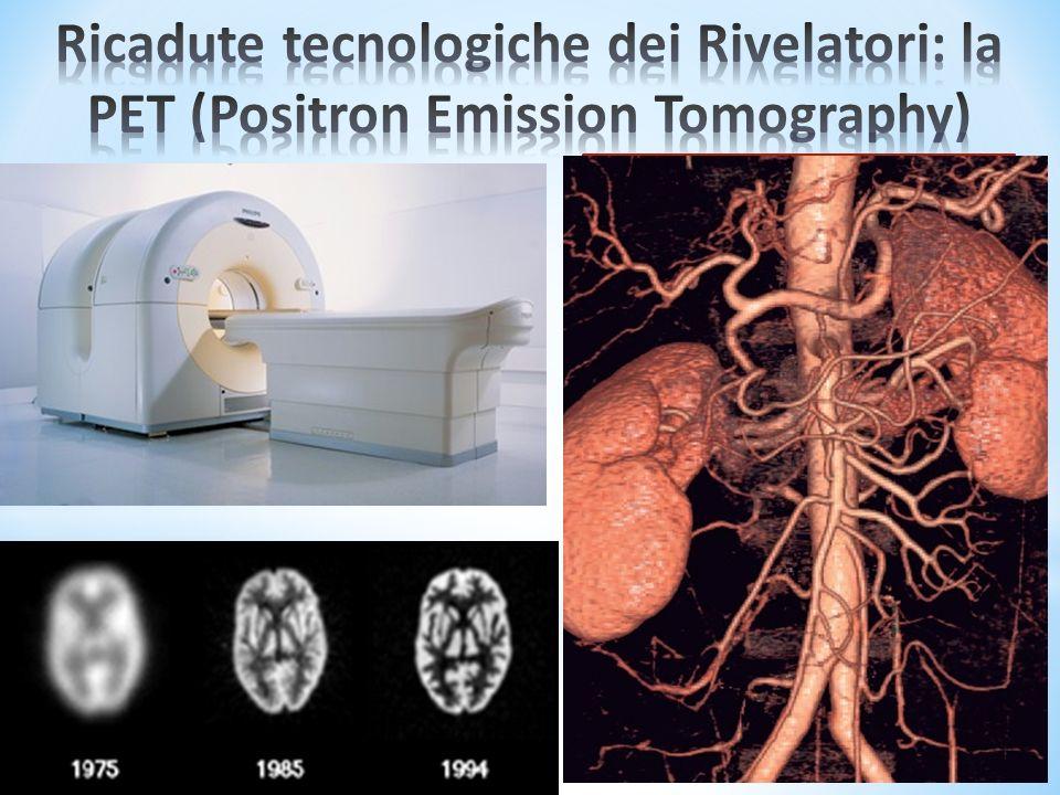 SI inietta un radiofarmaco nel corpo del paziente e si rivelano i fotoni emessi Lo sviluppo sui rivelatori ha contribuito a migliorare la risoluzione delle immagini
