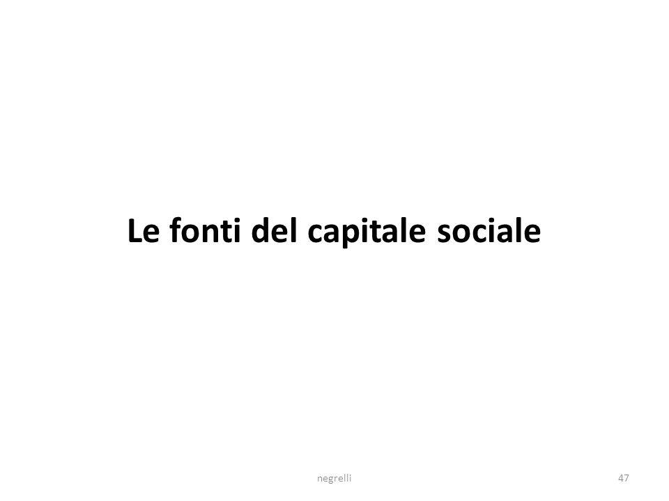Le fonti del capitale sociale negrelli47