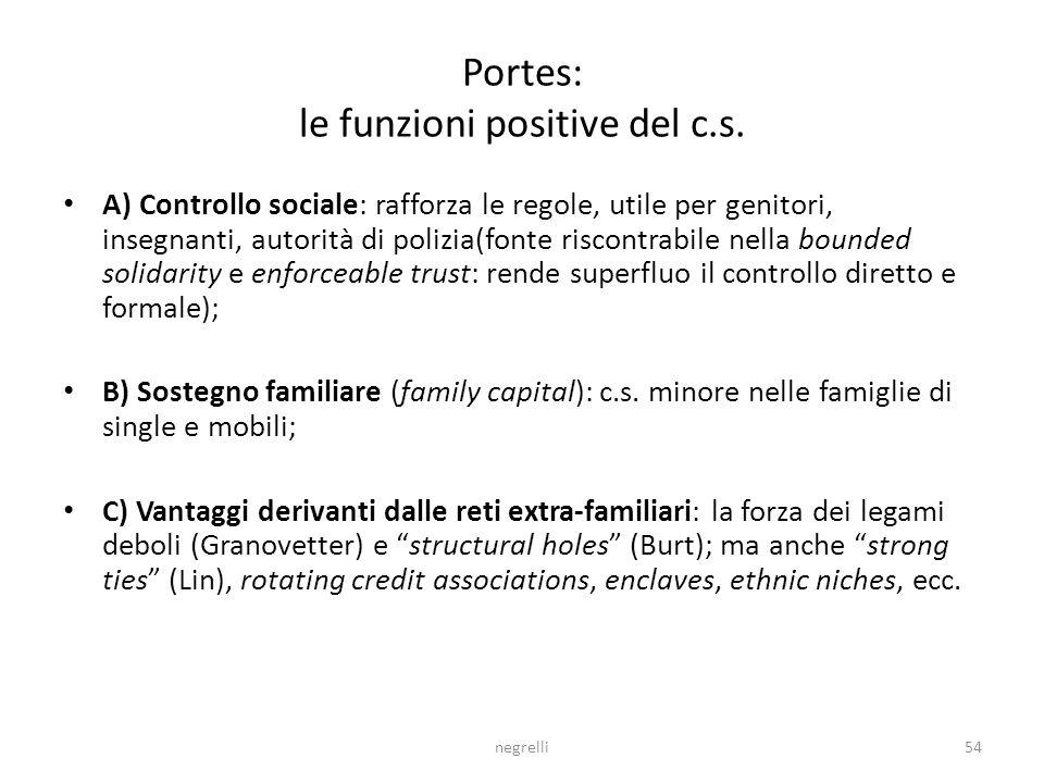 negrelli54 Portes: le funzioni positive del c.s.