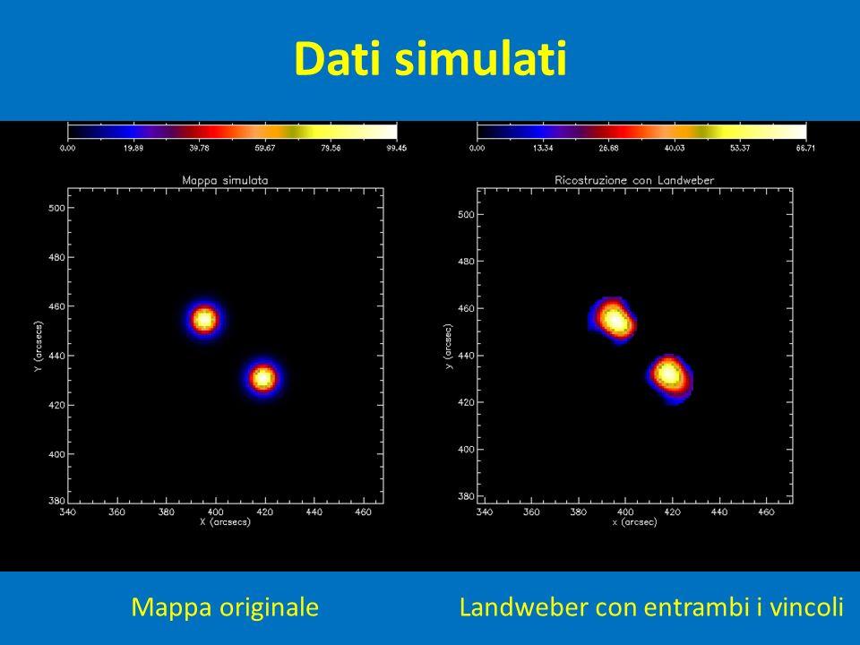 Dati simulati Mappa originaleLandweber con entrambi i vincoli