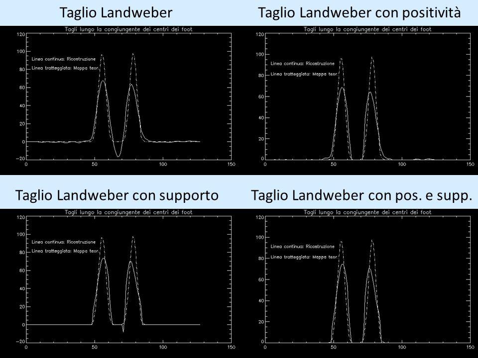 Taglio Landweber Taglio Landweber con positività Taglio Landweber con supporto Taglio Landweber con pos. e supp.