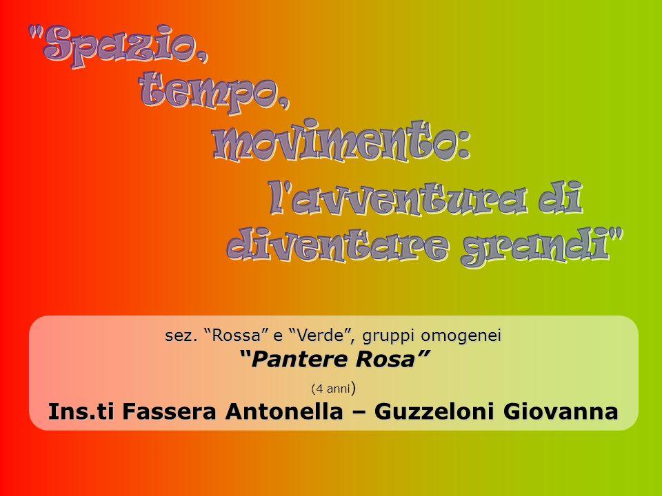 sez. Rossa e Verde, gruppi omogenei Pantere Rosa (4 anni ) Ins.ti Fassera Antonella – Guzzeloni Giovanna