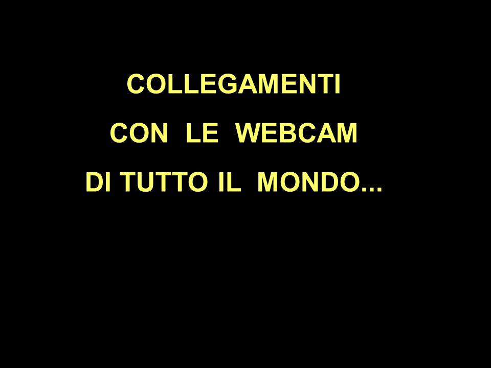 COLLEGAMENTI CON LE WEBCAM DI TUTTO IL MONDO...