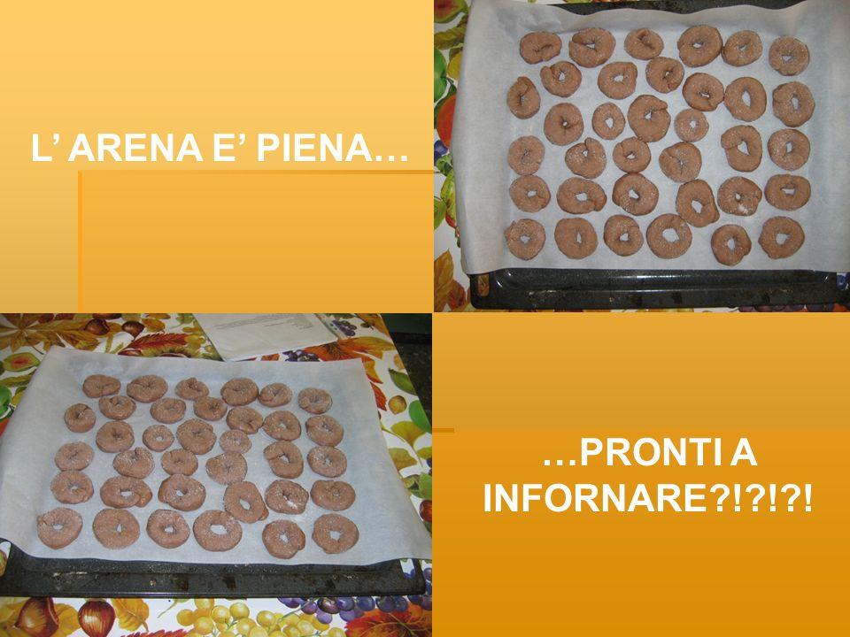 L ARENA E PIENA… …PRONTI A INFORNARE?!?!?!
