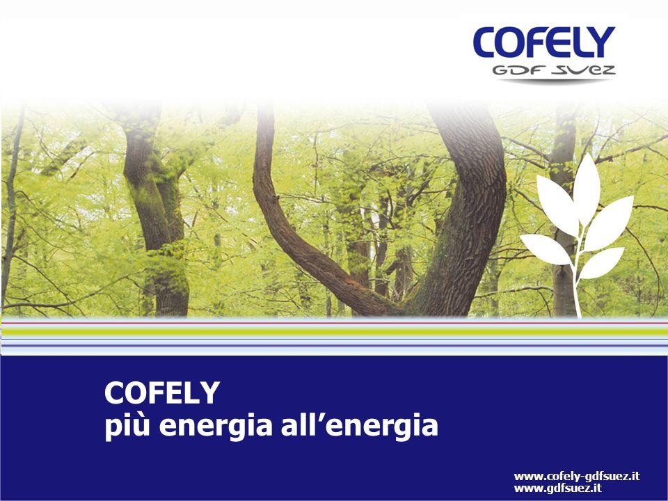COFELY più energia allenergia www.cofely-gdfsuez.it www.gdfsuez.it