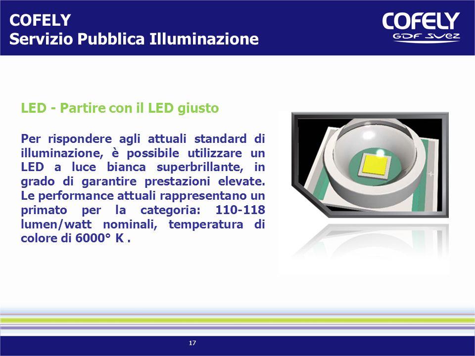 17 LED - Partire con il LED giusto Per rispondere agli attuali standard di illuminazione, è possibile utilizzare un LED a luce bianca superbrillante, in grado di garantire prestazioni elevate.