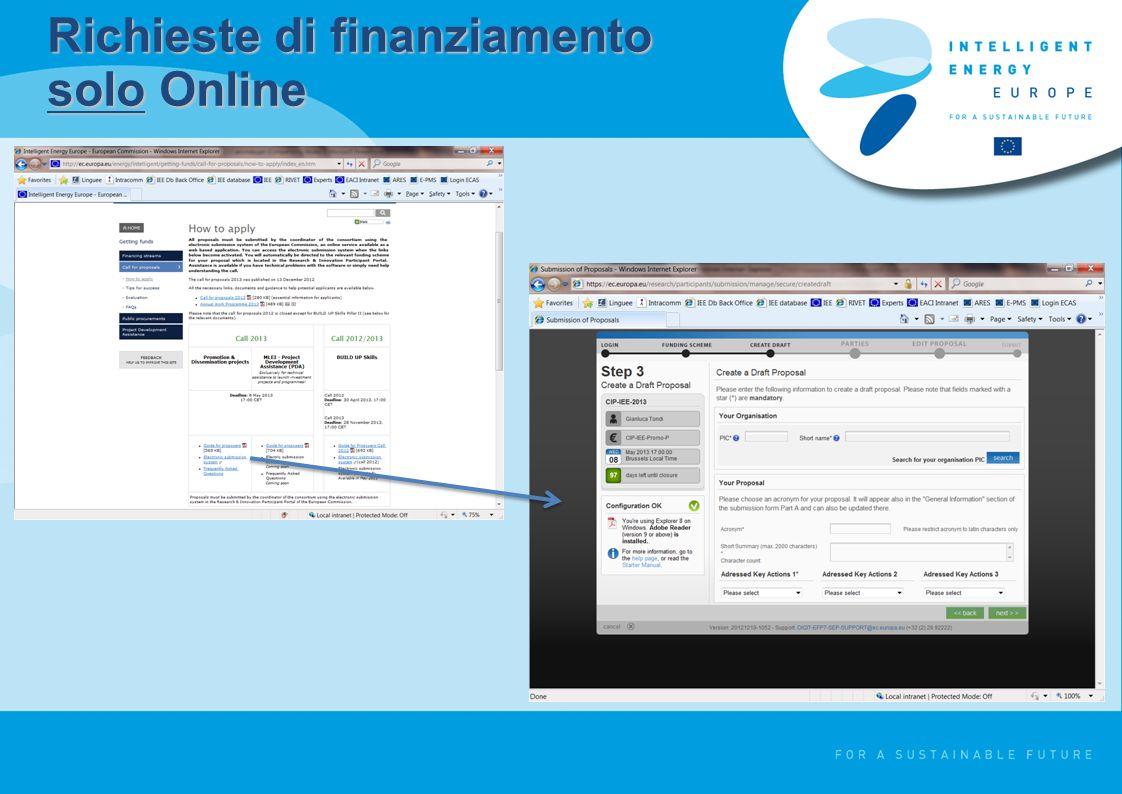 Richieste di finanziamento solo Online