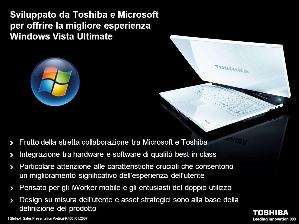 | Slide:3 | Sales Presentation Portégé R400 | 01.2007 Per l avanguardia mobile PC portatile Classico Eleveta produttività ma...
