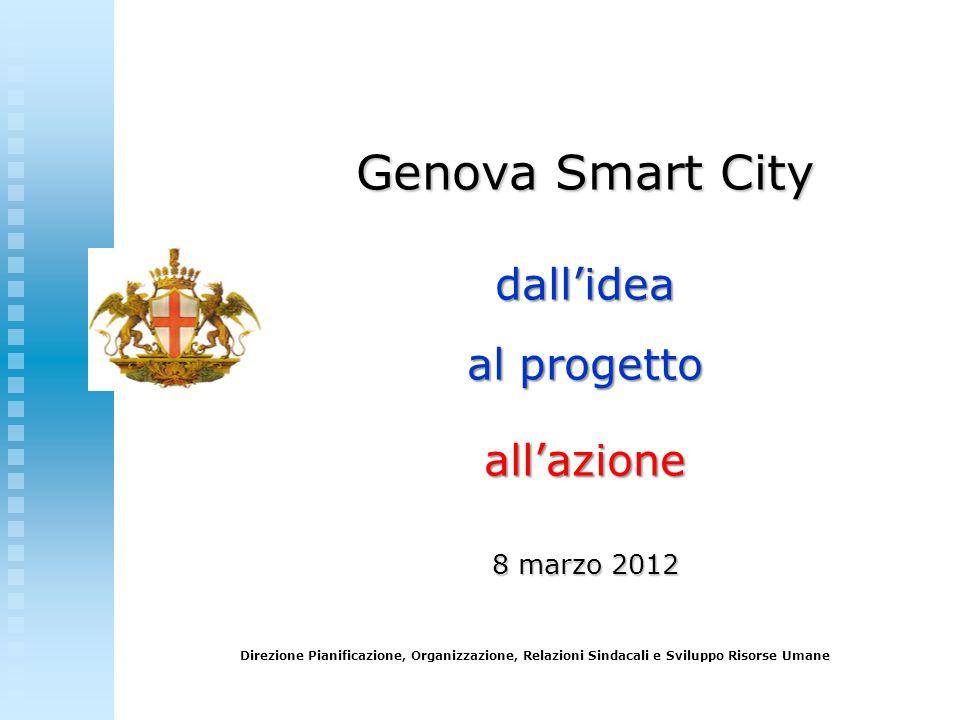 Direzione Pianificazione, Organizzazione, Relazioni Sindacali e Sviluppo Risorse Umane Genova Smart City dallidea al progetto allazione 8 marzo 2012