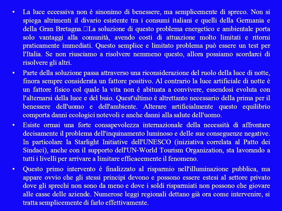 Art.8, comma 12 12.Per favorire impianti ad alta efficienza è necessario:...