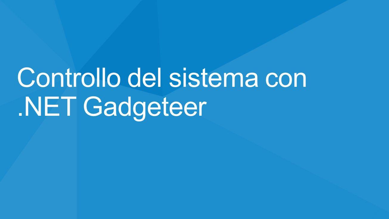 Controllo del sistema con.NET Gadgeteer