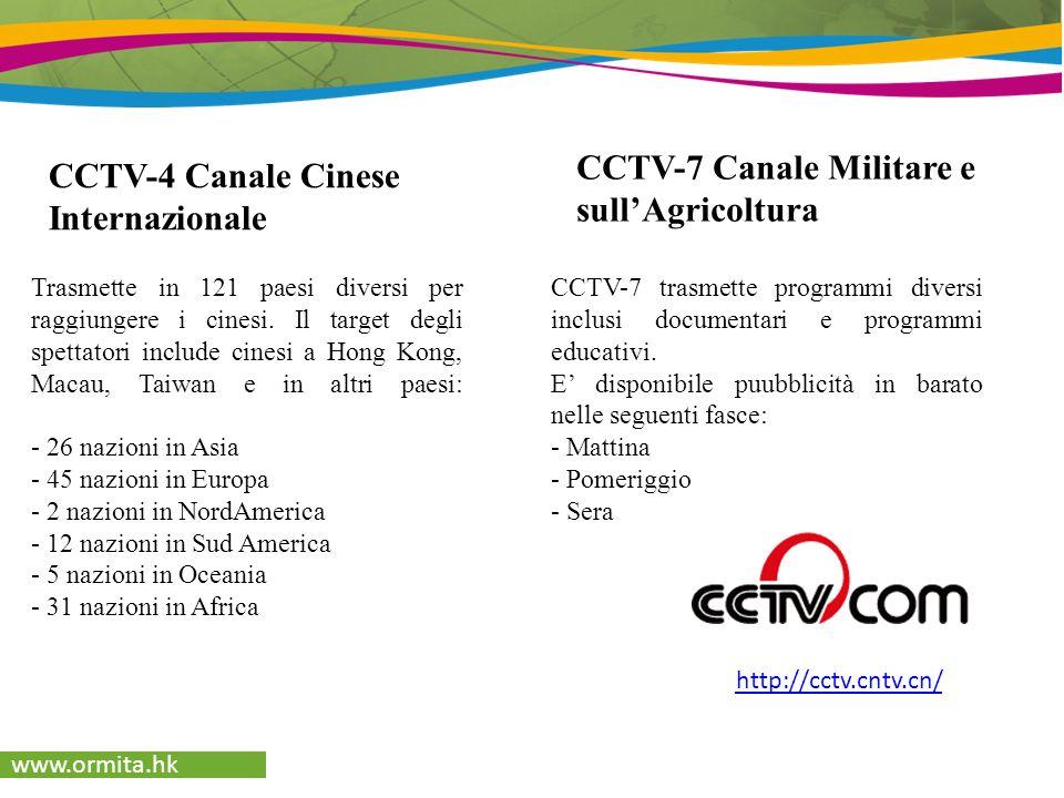 Pubblicità Canali Televisivi e Mobile TV