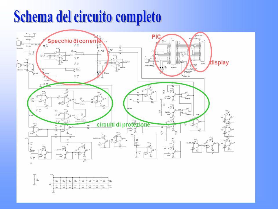 PIC display Specchio di corrente circuiti di protezione