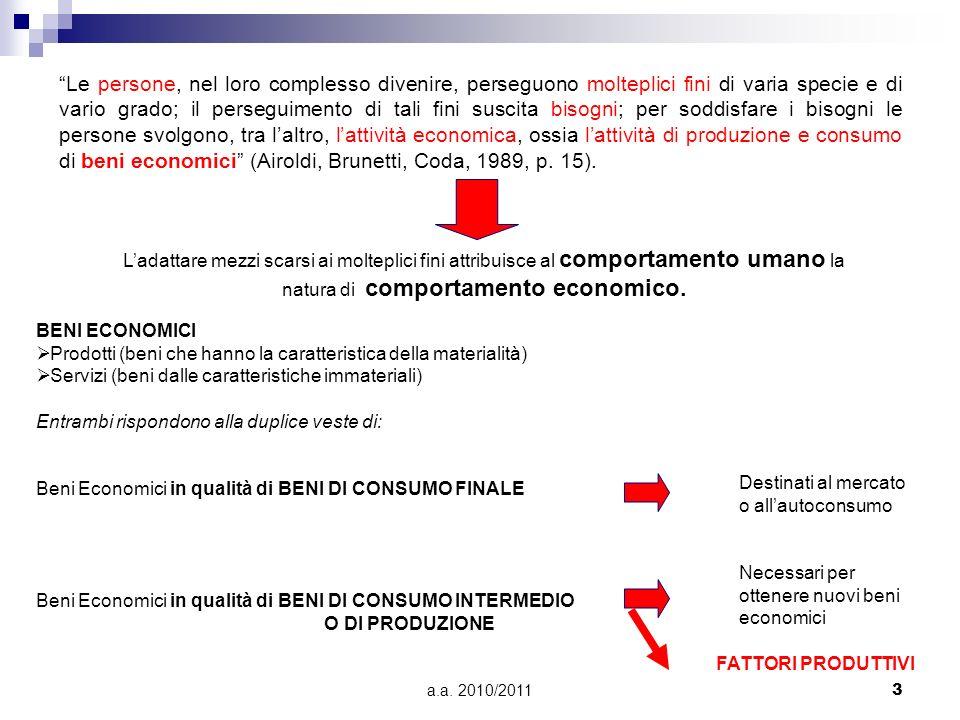 a.a. 2010/201134 Schema di percorso del processo decisorio