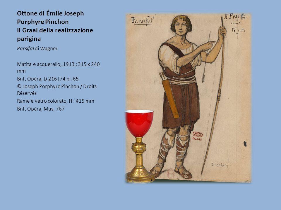 Ottone di Émile Joseph Porphyre Pinchon Il Graal della realizzazione parigina Parsifal di Wagner Matita e acquerello, 1913 ; 315 x 240 mm BnF, Opéra,