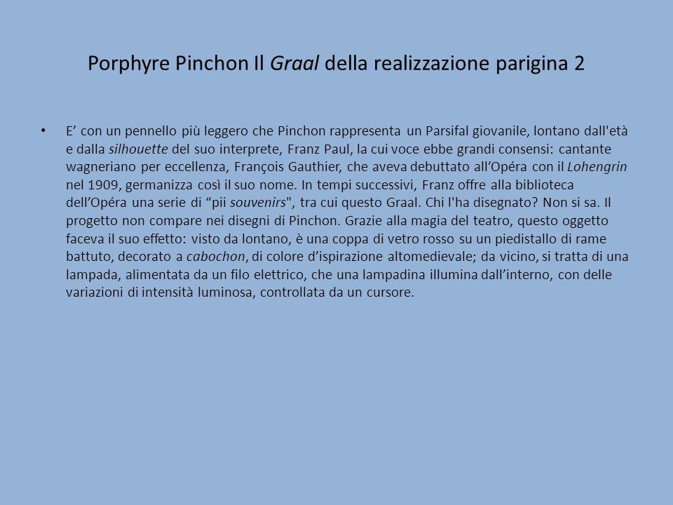 Porphyre Pinchon Il Graal della realizzazione parigina 2 E con un pennello più leggero che Pinchon rappresenta un Parsifal giovanile, lontano dall'età
