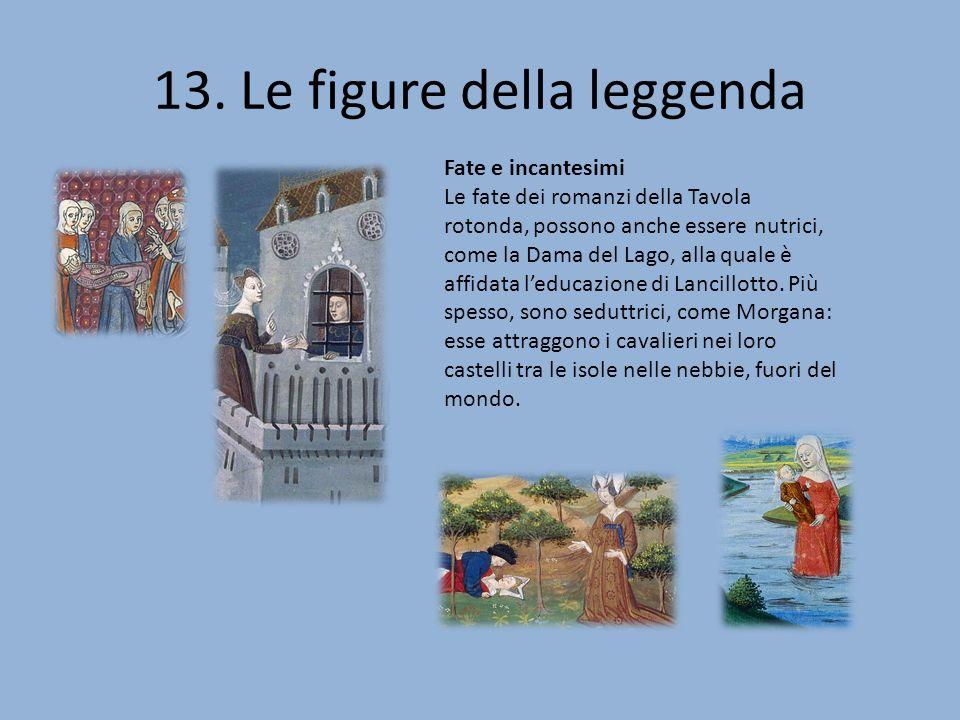 13. Le figure della leggenda Fate e incantesimi Le fate dei romanzi della Tavola rotonda, possono anche essere nutrici, come la Dama del Lago, alla qu