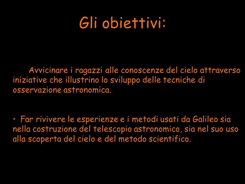 Gli obiettivi: Avvicinare i ragazzi alle conoscenze del cielo attraverso iniziative che illustrino lo sviluppo delle tecniche di osservazione astronom