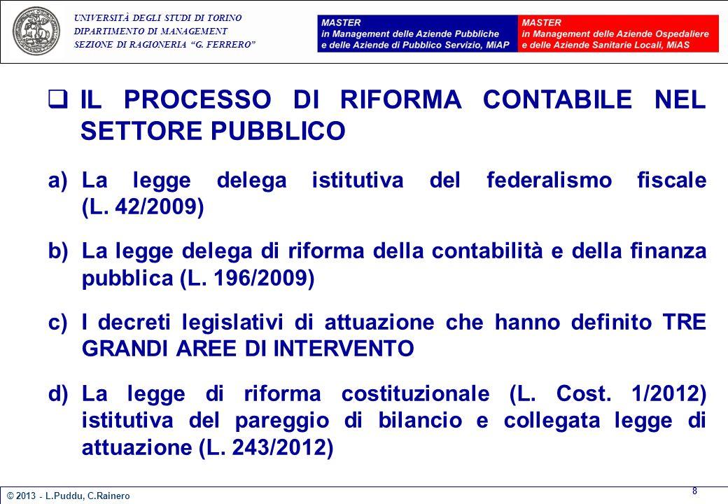 E A UNIVERSITÀ DEGLI STUDI DI TORINO DIPARTIMENTO DI MANAGEMENT SEZIONE DI RAGIONERIA G.