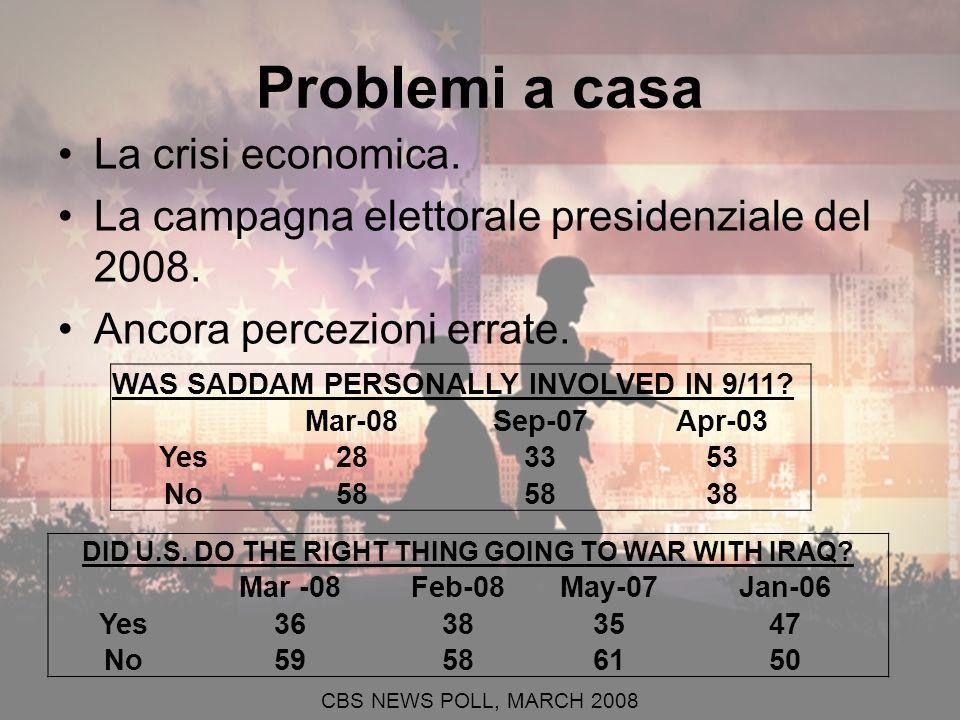 Problemi a casa La crisi economica. La campagna elettorale presidenziale del 2008.