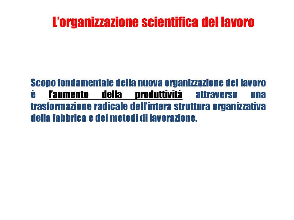 Approccio taylorista Frederick Taylor (1856 - 1917) Organizzazione scientifica del lavoro (Scientific Management) La divisione del lavoro può essere c