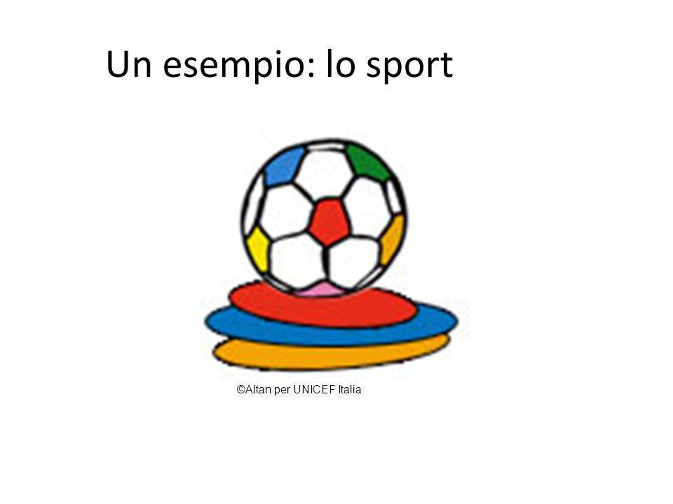 Un esempio: lo sport ©Altan per UNICEF Italia