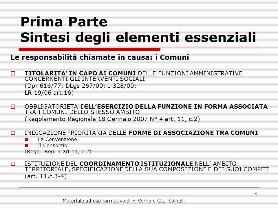 Materiale ad uso formativo di F.Vernò e G.L.