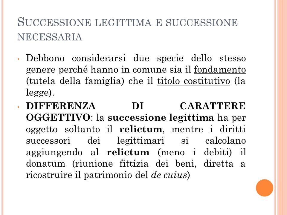 L ACCRESCIMENTO NELLA SUCCESSIONE LEGITTIMA Art.522 cod.