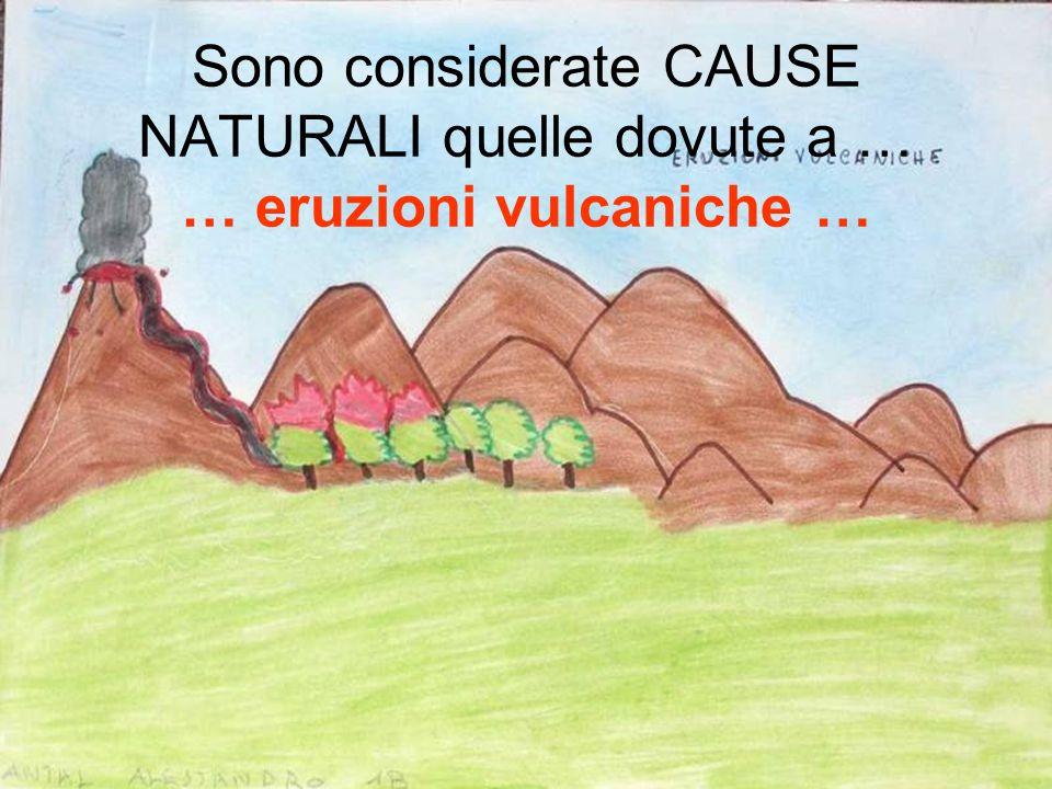 Sono considerate CAUSE NATURALI quelle dovute a … … eruzioni vulcaniche …