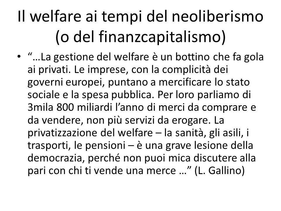 Ferrera, Le politiche sociali, Il Mulino, 2012 Capitolo II. La politica pensionistica Il welfare ai tempi del neoliberismo (o del finanzcapitalismo) …