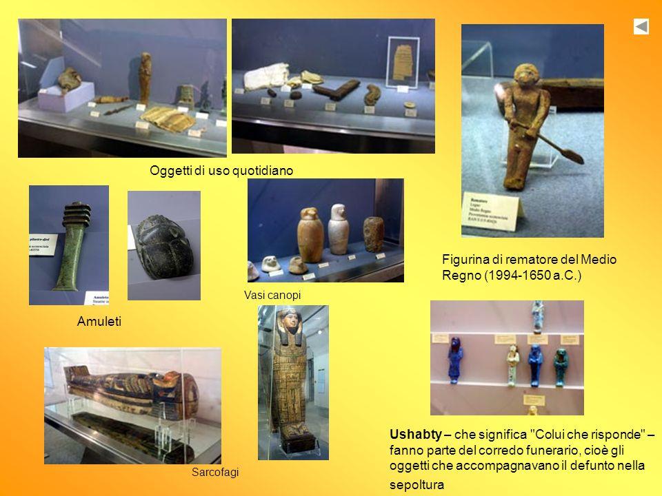 Figurina di rematore del Medio Regno (1994-1650 a.C.) Oggetti di uso quotidiano Amuleti Ushabty – che significa