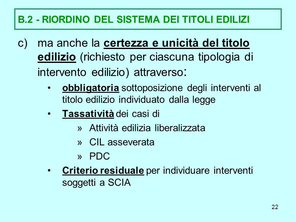 23 B.3.- ARMONIZZAZIONE DELLA SCIA: 1. PREMESSA La L.R.