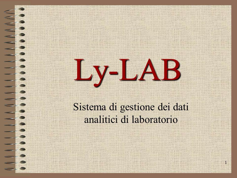 1 Ly-LAB Sistema di gestione dei dati analitici di laboratorio