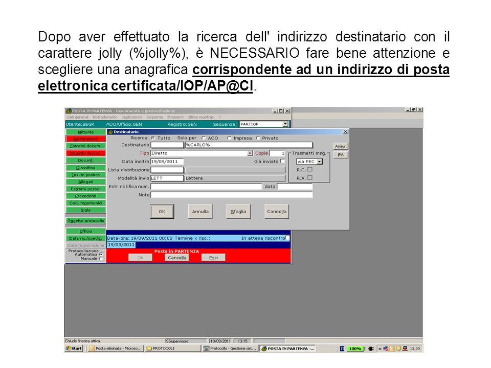 Il documento inviato dalla Pubblica Amministrazione deve essere firmato digitalmente ed indicato come principale e documento primario; altri documenti possono essere associati come sempliciallegati, sempre utilizzando il bottone inserisci oggetti
