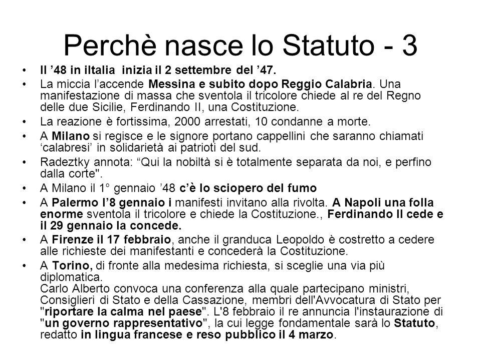Il 48 in iItalia inizia il 2 settembre del 47. La miccia laccende Messina e subito dopo Reggio Calabria. Una manifestazione di massa che sventola il t