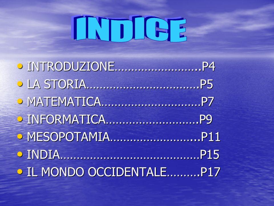 INTRODUZIONE……………………..P4 INTRODUZIONE……………………..P4 LA STORIA…………………………….P5 LA STORIA…………………………….P5 MATEMATICA…………………………P7 MATEMATICA…………………………P7 INFORM