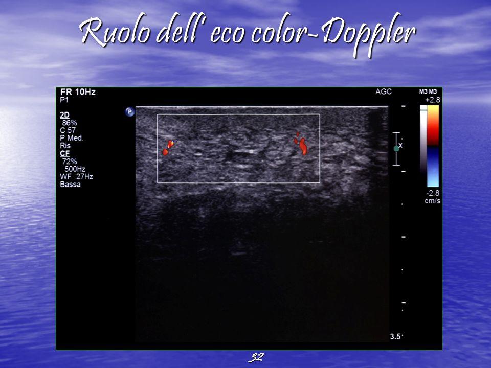 32 Ruolo dell eco color-Doppler