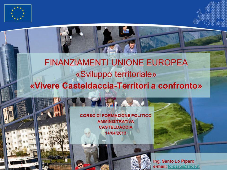 2 Unione Europea Politica regionale – Occupazione, affari sociali e inclusione Il territorio di riferimento: Larea metropolitana ad est di Palermo - Bagheria e il suo hinterland.