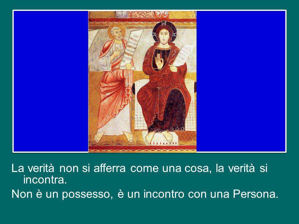 Pilato non riesce a capire che la Verità è davanti a lui, non riesce a vedere in Gesù il volto della verità, che è il volto di Dio.