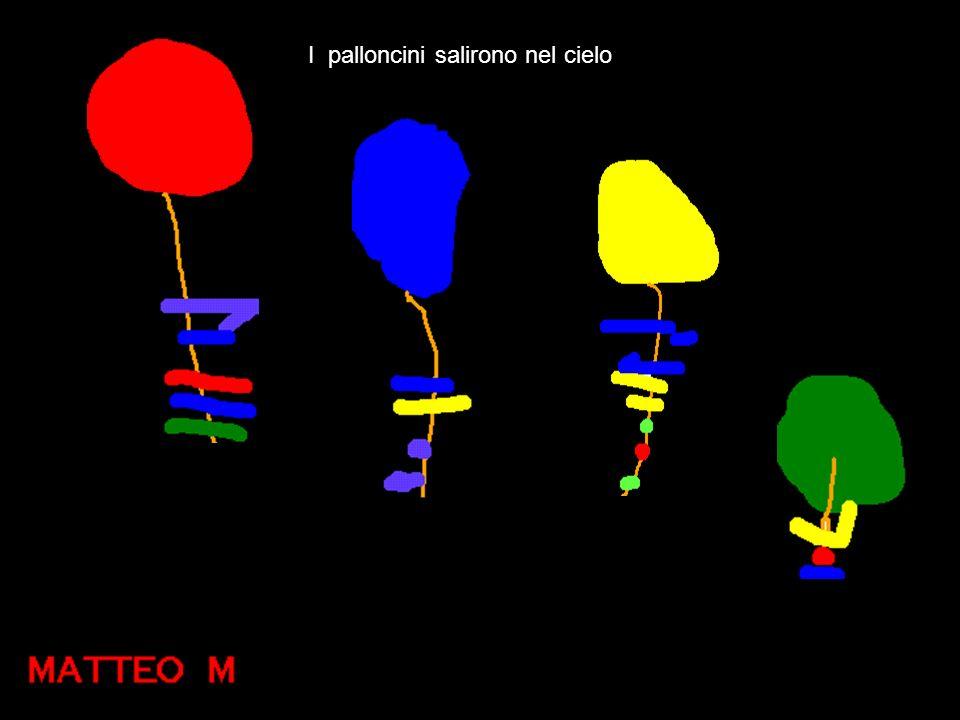 I palloncini salirono nel cielo