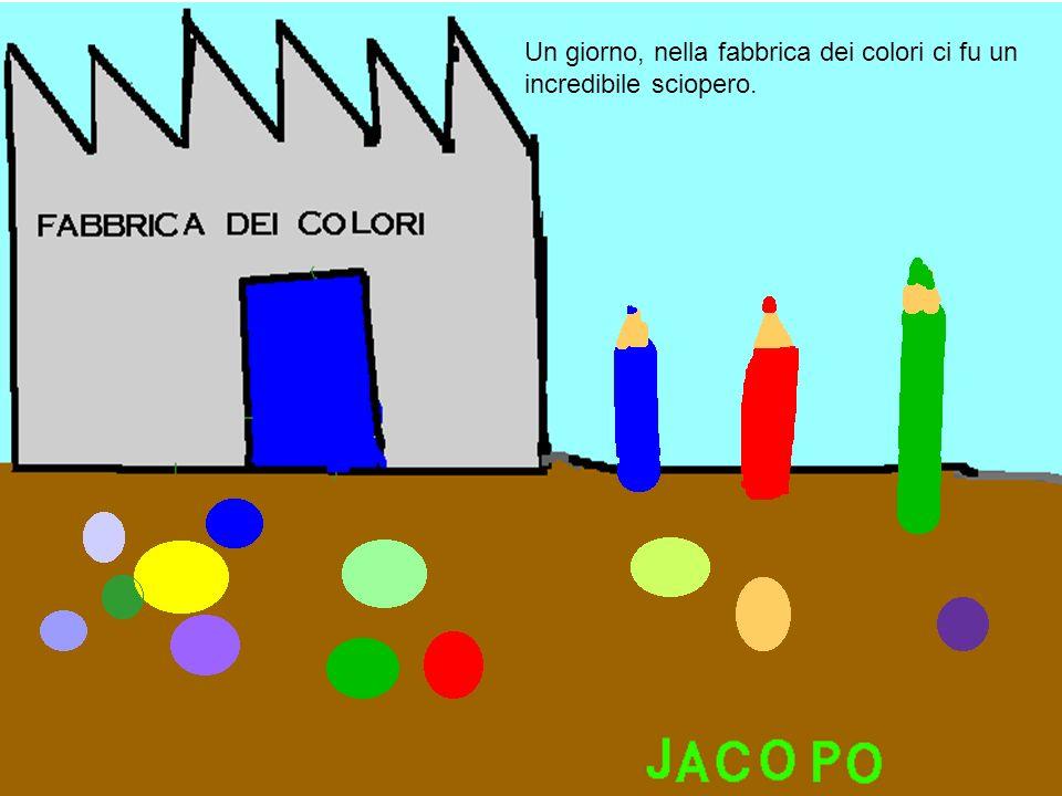 Un giorno, nella fabbrica dei colori ci fu un incredibile sciopero.